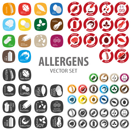Allergen big icon set