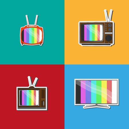 TV background Evolution in September Illusztráció