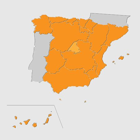 national geographic: Map of Spain background