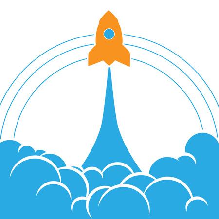 launching: Launching rocket background