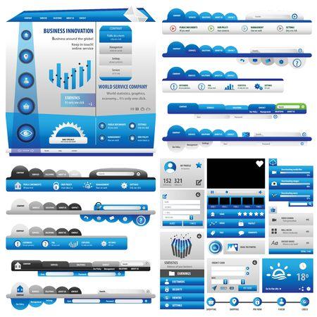 Blue business user interface Vettoriali