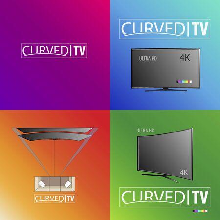 Curved background TV in September