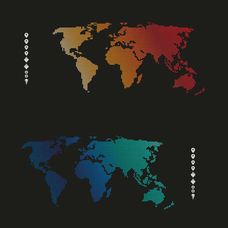 Business world map background for business