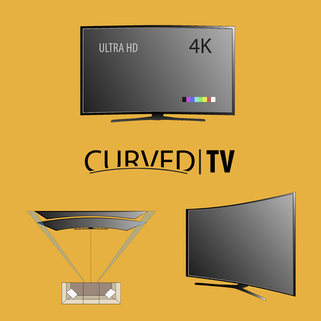 Curved tv background for business