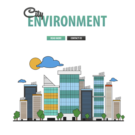 city background: City background environment for business