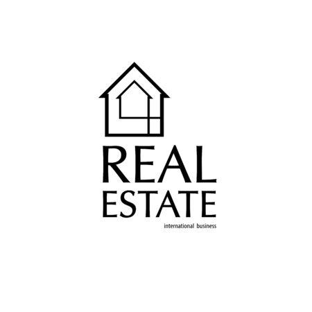Real Estate business black background