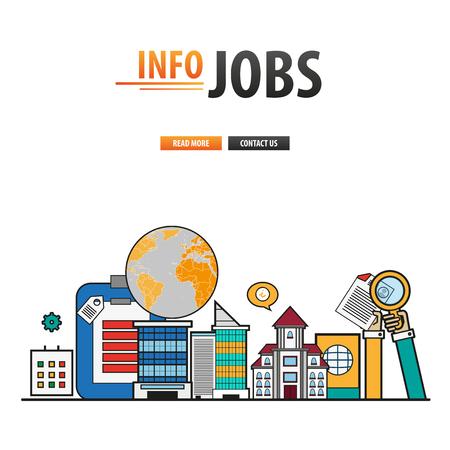 jobs: Info jobs flat design background