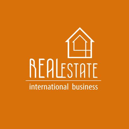 real estate: Orange Real estate background
