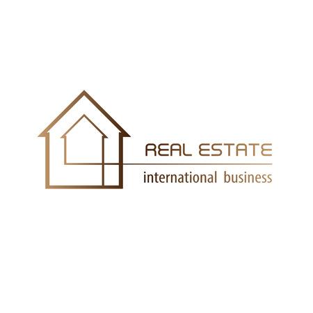 Real Estate logo ontwerp achtergrond