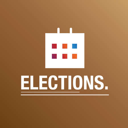Calendar for the election background
