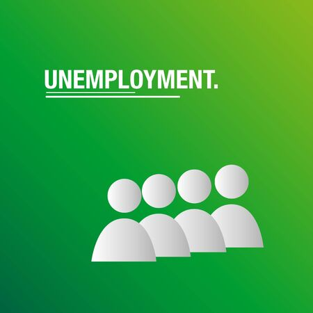 Unemployment background for business Illustration