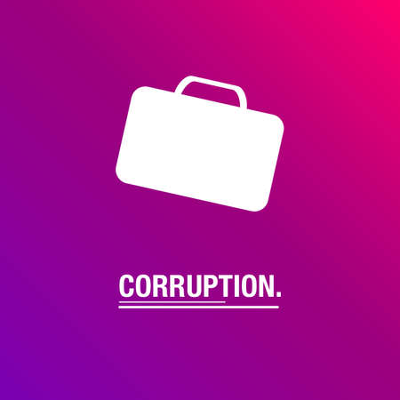 corruption: Corruption background for business Illustration