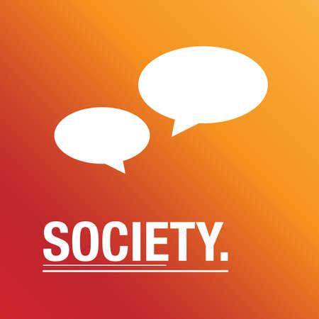 talks: Society talks about everything background Illustration