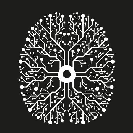 digital background: Digital brain connection background