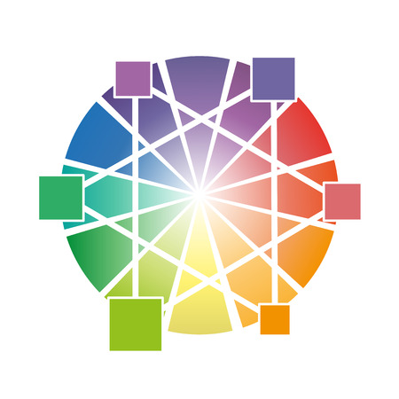 Color wheel With three primary colors vector illustration for business Illustration