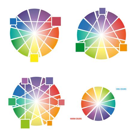 color mixing: Color Wheel Worksheet for design elements background