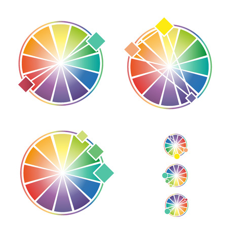 color theory: Color wheel With three primary colors for business Illustration