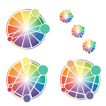 color theory: Color Wheel Worksheet vector illustration