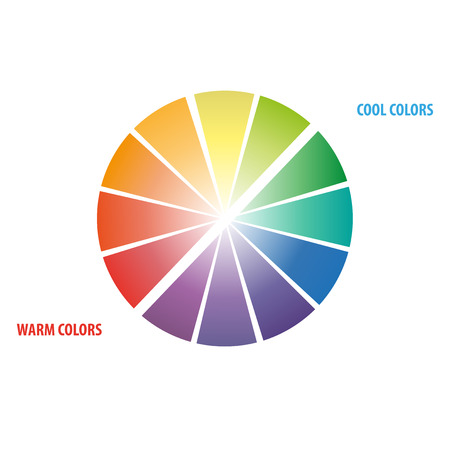 color theory: Color Wheel Worksheet for art students Illustration