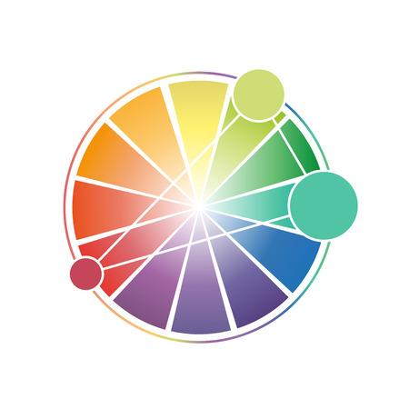 Color Wheel Worksheet for students 向量圖像