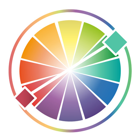 secondary colors: Color Wheel Worksheet on white background
