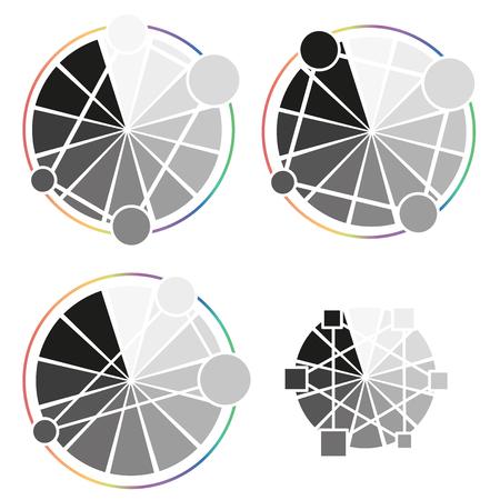 Grey Wheel Worksheet on white background