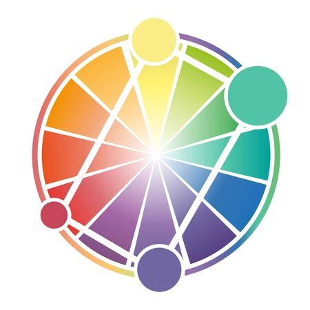 secondary: Color Wheel Worksheet for business background