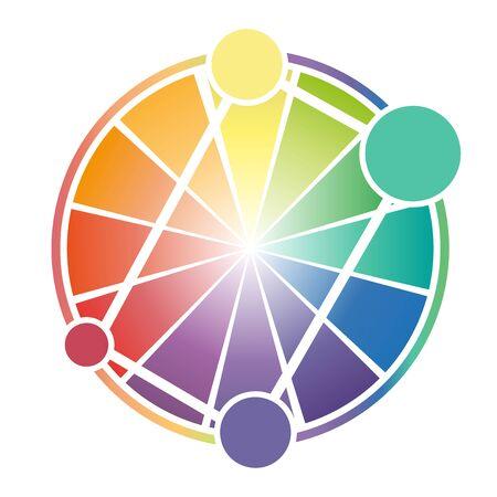 Color Wheel Worksheet for business background