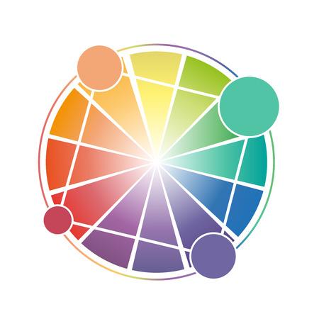 tertiary: Color Wheel Worksheet for school Illustration
