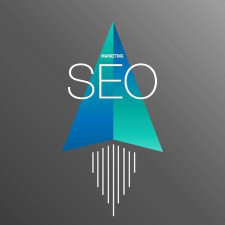 ビジネスのための SEO マーケティングの背景  イラスト・ベクター素材