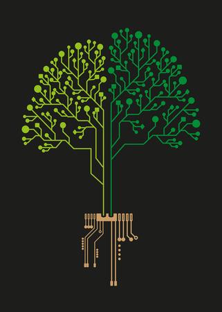 ビジネスのための技術ツリー回路  イラスト・ベクター素材