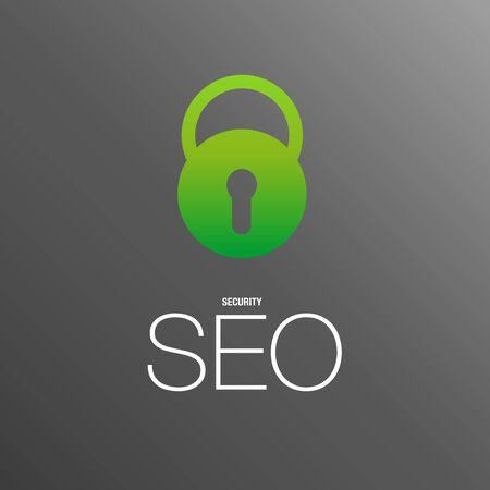 ビジネス セキュリティの背景のための SEO  イラスト・ベクター素材