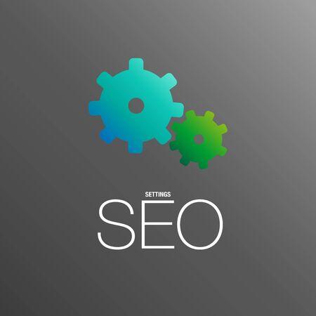 ビジネスの場所のための SEO 設定  イラスト・ベクター素材