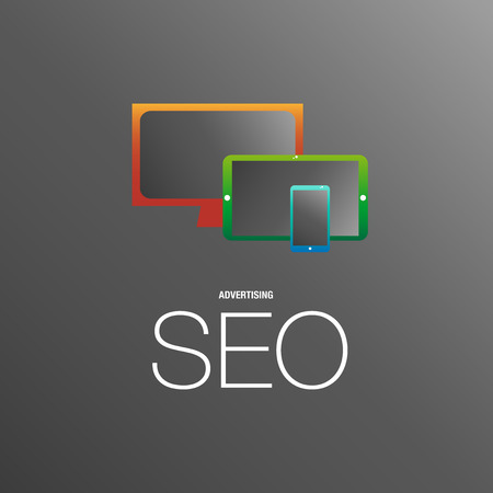 ビジネスの場所のための SEO 広告  イラスト・ベクター素材