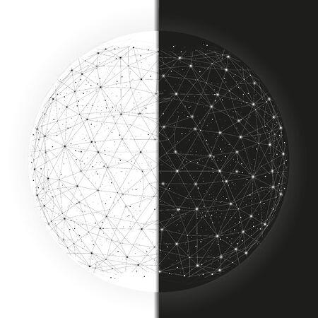 二元性の世界のビジネスのための星座と背景を抽象化します。