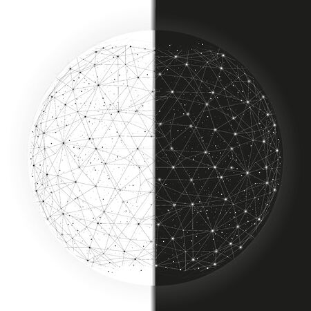 Duality worlds abstract background with constellation for business