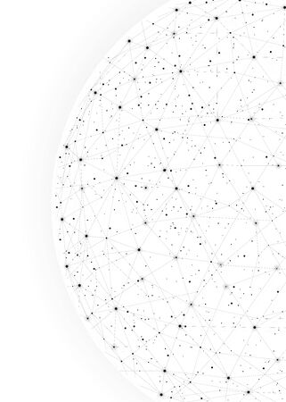 White constellations background for business