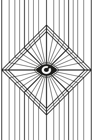 目の正方形の背景ポスター