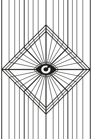 The eye square background poster Ilustração