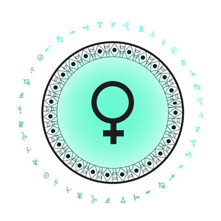 金星惑星記号の背景  イラスト・ベクター素材