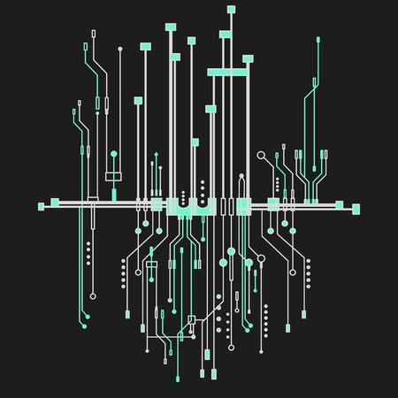 ビジネス技術のマイクロ チップの背景  イラスト・ベクター素材