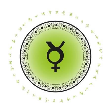 Mercury background planet symbol Ilustração
