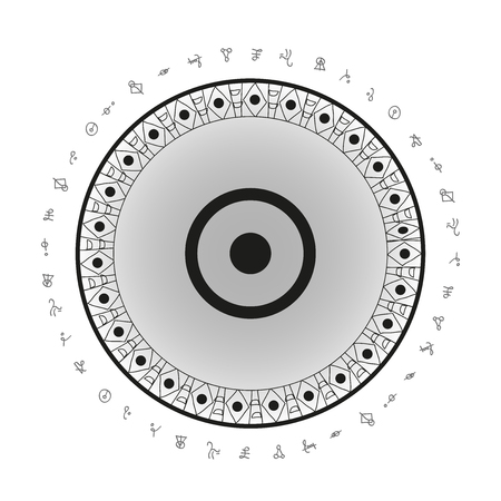 太陽のシンボルの背景  イラスト・ベクター素材
