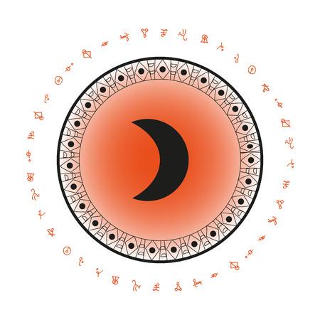 月のシンボルの背景