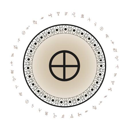 地球惑星記号の背景