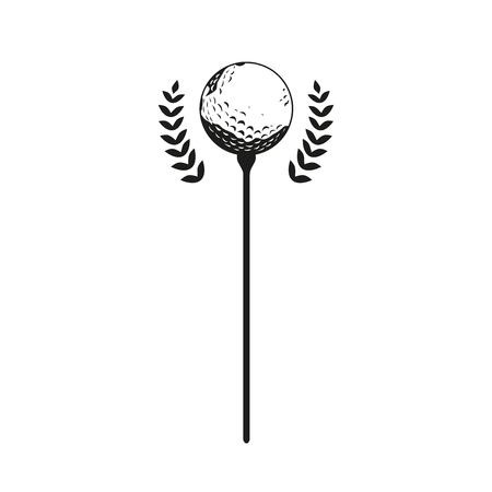 Golf competition background for business Ilustrace