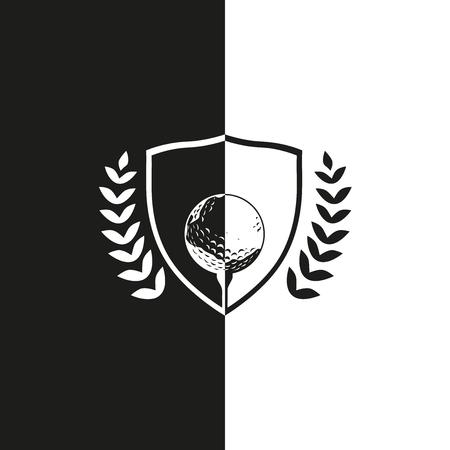 黒と白のゴルフ