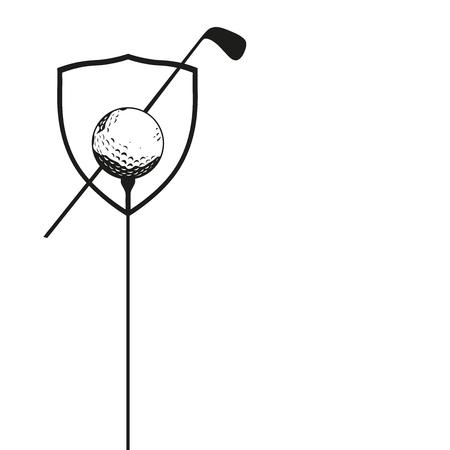 ゴルフコンペのイラスト ポスター