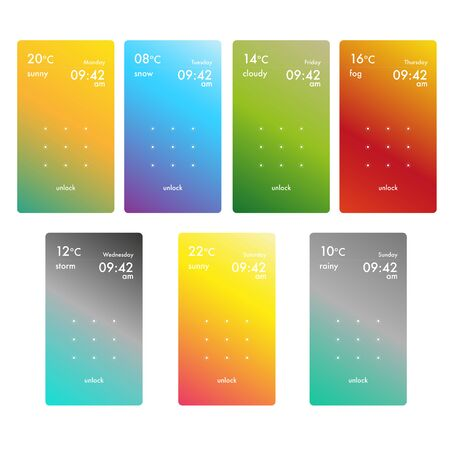 Screen unlock pattern for smartphones Ilustração