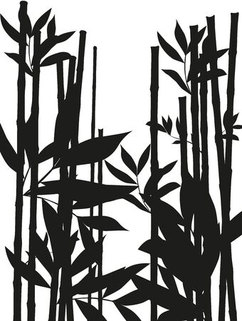 Black bamboo template to decor your business Ilustrace